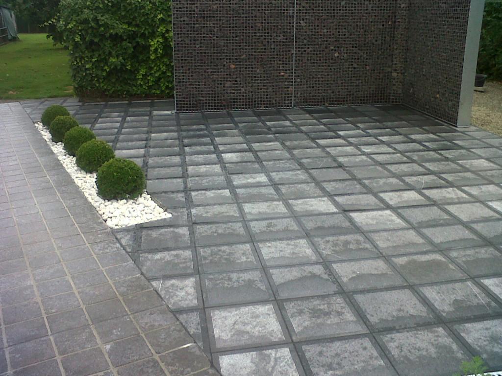 Aanleg van uw terras en oprit tuinen tom vandermaeten - Afbeeldingen van terrassen verwachten ...